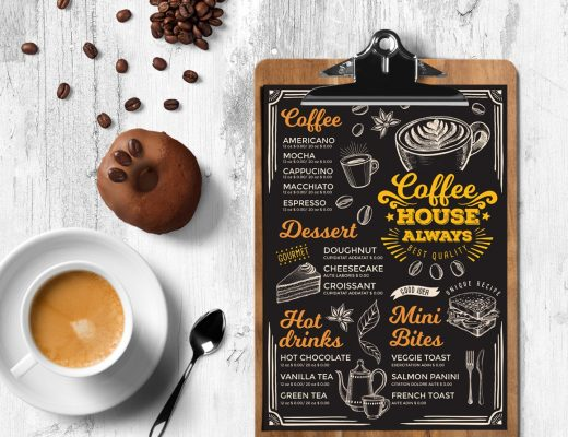 Coffee Menu Template  Dessert Menu Template