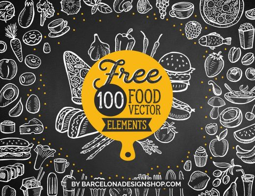 100 free food illustrations hand drawn vegetables fruits fastfood dessert