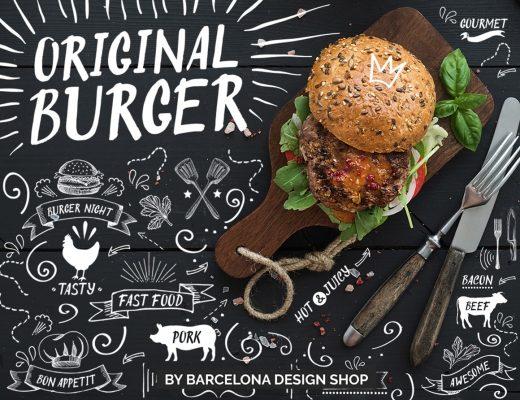 original burger brush font type script handwritten