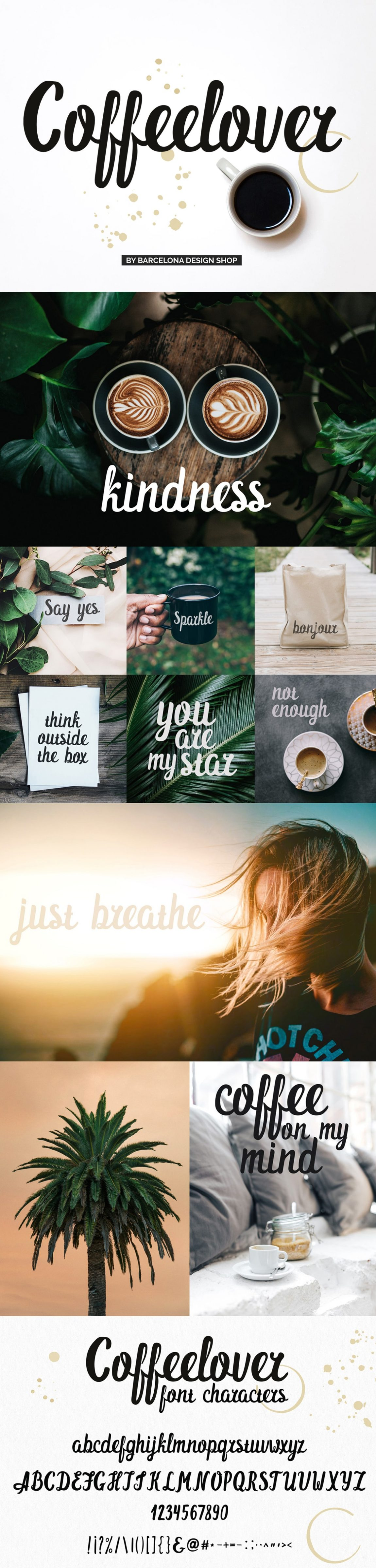 Handwritten Coffeelover brush font