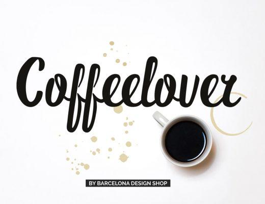 Handwritten Coffeelover brush font