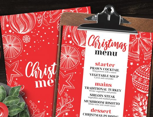 christmas restaurant menu food party template for restaurant design chalkboard festive dinner