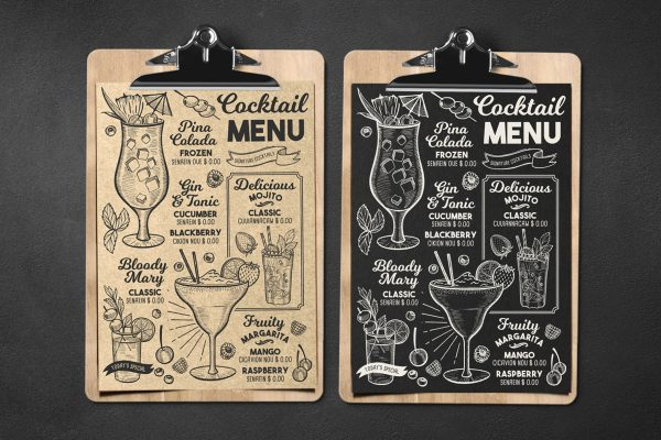 alcohol-cocktail-menu-template-restaurant-design-drink-chalkboard