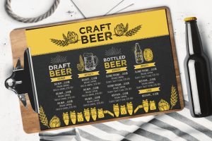 beer-alcohol-menu-template-restaurant-beverage