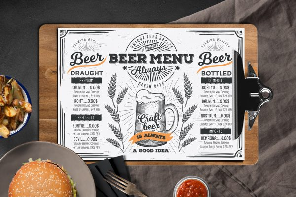 beer-alcohol-menu-template-restaurant-drink-beverage