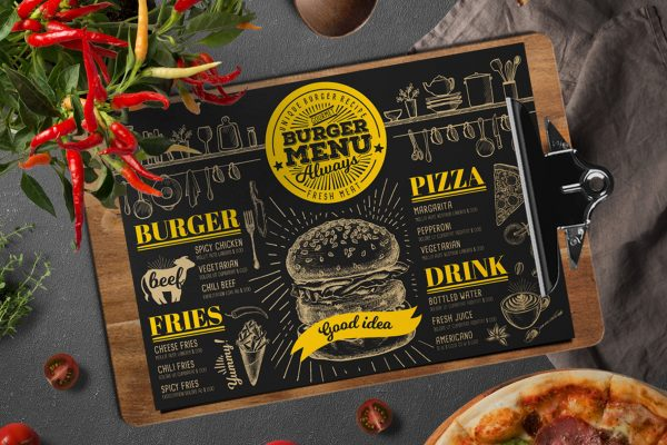 burger-food-menu-template-restaurant-vintage