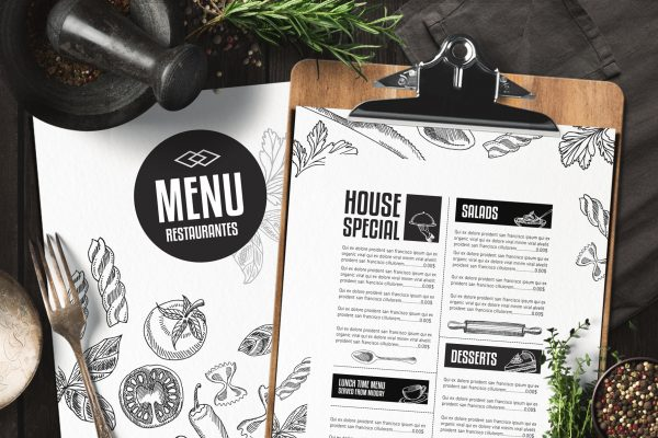 food-menu-restaurant-drink-template-psd-card-design-brochure