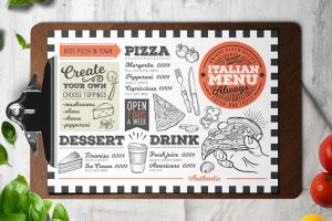italian-pizza-food-menu-template-restaurant-card-retro