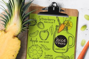 juice-beverage-menu-template-restaurant-design-drink-vegan-smoothie