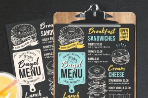sandwich-food-menu-template-restaurant-bagel-chalkboard