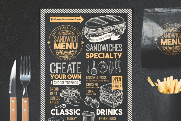 sandwich-food-menu-template-restaurant-retro
