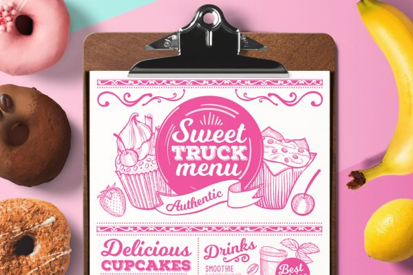 sweet-food-menu-template-restaurant-design-dessert-bakery-vintage