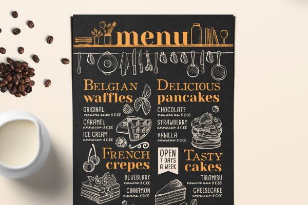 waffle-coffee-food-sweet-menu-template-restaurant-design-dessert-crepes
