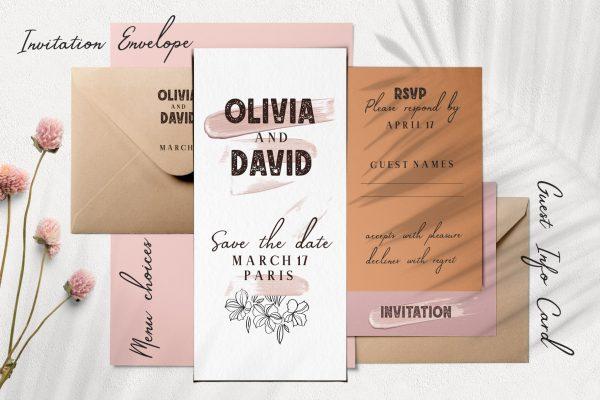 font-script-floral-illustration-wedding-invitation-logo-branding